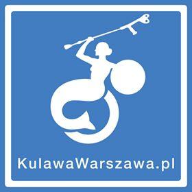 logo fundacji Kulawa Warszawa. połączenie syrenki warszawskiej i piktogramu osoby z niepełnosprawnością